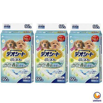 Unicharm消臭大師 日本 小型犬狗尿墊-森林香 M92 X 3包
