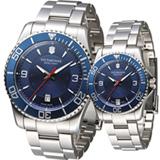 維氏 Victorinox Maverick 大三針經典對錶 VISA-241706 VISA-241709