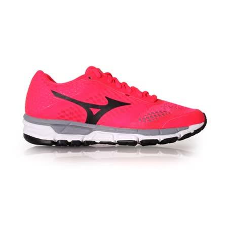 (女) MIZUNO SYNCHRO MX 慢跑鞋- 美津濃 訓練 健身 路跑 桃紅黑