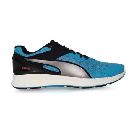 (男) PUMA IGNITE V2 慢跑鞋- 路跑 健身 訓練 藍黑銀