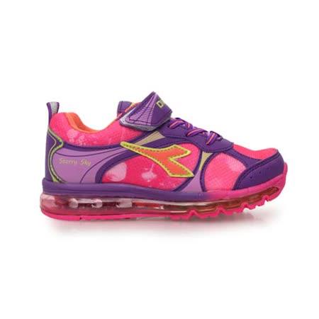 (童) DIADORA 男女中氣墊慢跑鞋 -路跑 鞋 男鞋 女鞋 紫粉紅