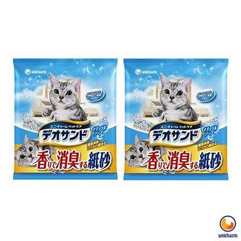Unicharm 日本消臭大師 消臭紙砂 肥皂香 5L X 2包入
