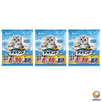 Unicharm 日本消臭大師 消臭紙砂 肥皂香 5L X 3包入