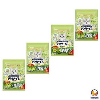 Unicharm 日本消臭大師 一月間消臭抗菌綠茶紙砂 2L X 4包入