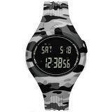 adidas 潮流曲線數位電子腕錶-灰