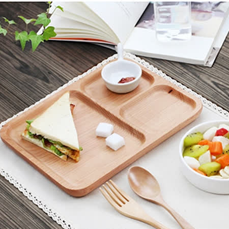 【Homely Zakka】木趣食光日系木質分隔餐盤