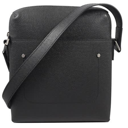 Louis Vuitton LV M30505 Grigori系列 質感Taiga全皮革壓紋斜背包.黑_現貨