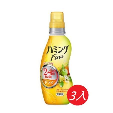 日本花王 Humming 衣物柔軟精-熱帶水果香-570ml*3入