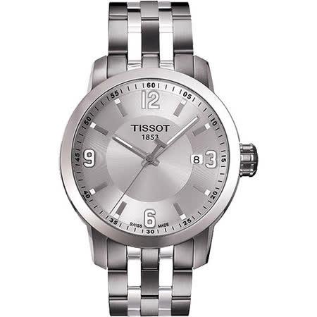 TISSOT PRC200 都會菁英時尚腕錶(銀/39mm) T0554101103700
