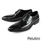 【Pelutini】時尚簡約橫飾紳士鞋 黑色(8048-BL)