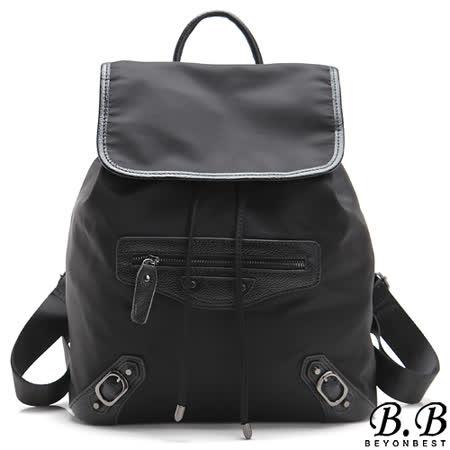 【MOROM】真皮經典時尚改版機車後背包(黑色)new242