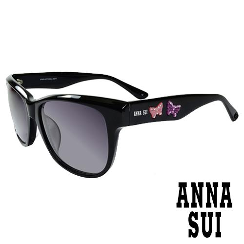 Anna Sui 安娜蘇 立體浮雕蝴蝶雙飛翼 太陽眼鏡^(黑^)AS847001