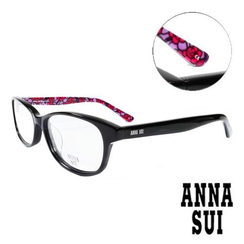 ANNA SUI 玫紅浪漫薔薇花園 眼鏡^(黑色^)AS616~1~001