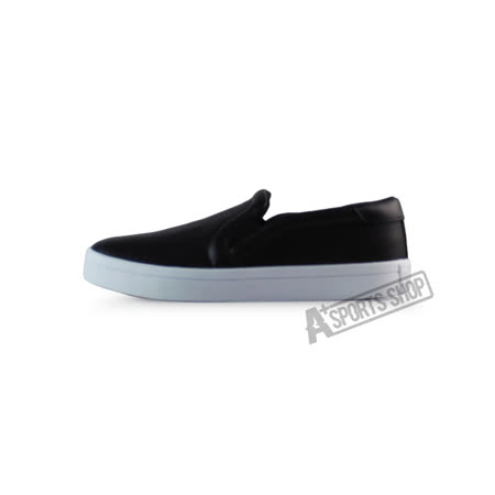 ADIDAS (女) 愛迪達 COURTVANTAGE SLIP ON W 休閒鞋 黑/白-S75167