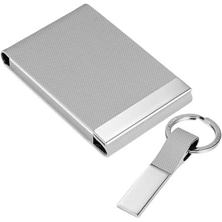 《PHILIPPI》Todd鑰匙圈名片盒組(灰)