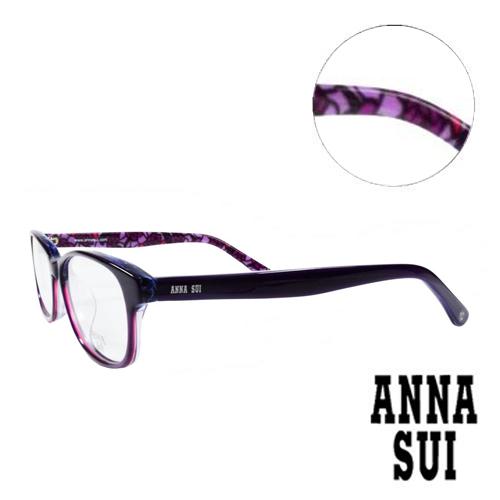 ANNA SUI 浪漫薔薇花園 眼鏡^(紫色^)AS616~1~706