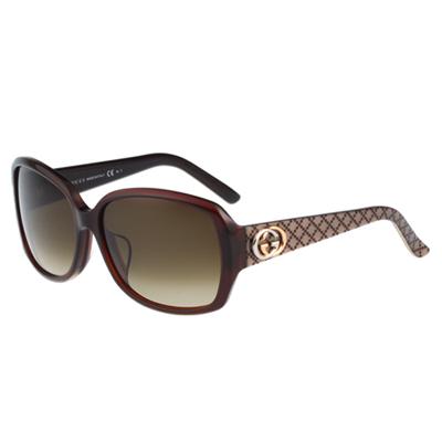 GUCCI-時尚太陽眼鏡(咖啡色)