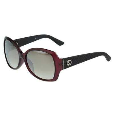 GUCCI- 時尚低調 太陽眼鏡 (紅色)