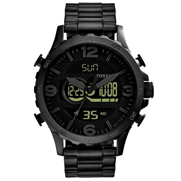 FOSSIL  死侍重生雙顯計時腕錶-黑