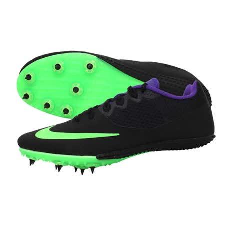 (男女) NIKE ZOOM RIVAL S 8 田徑釘鞋-短距離 跨欄 黑螢光綠