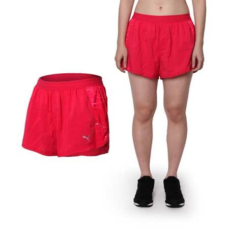 (女) PUMA 款NIGHTCAT運動短褲 -運動 慢跑 路跑 瑜珈 桃紅銀