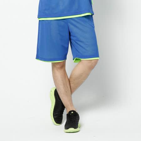V.TEAM(男)-雙面穿吸排籃球褲-藍