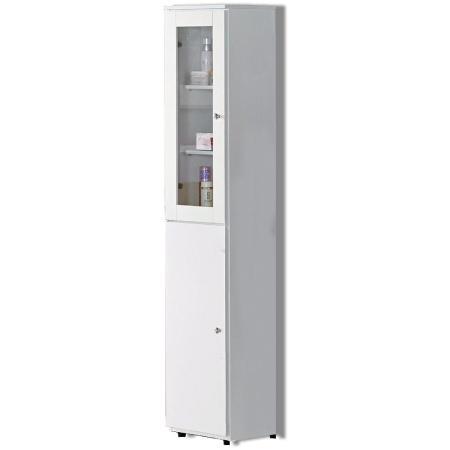 AT HOME-凱渥1尺白色立鏡櫃