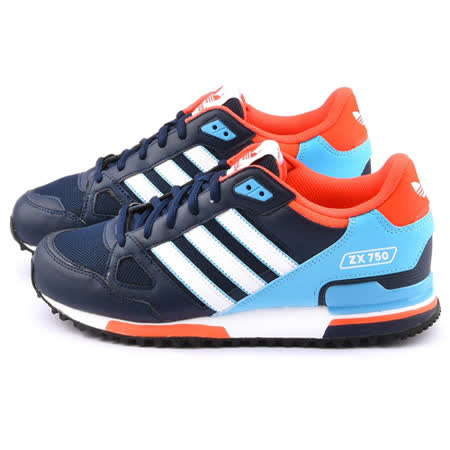 Adidas 男款 ZX 750 Originals 復古休閒鞋S79194-藍