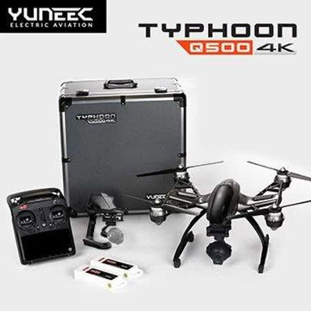 YUNEEC Typhoon Q500+ 4K 雙原廠電池 鋁箱版 四軸 空拍機 黑色