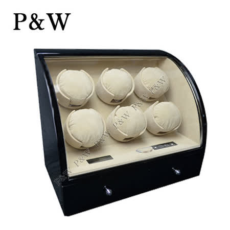 【P&W手錶自動上鍊盒】 【大錶專用】6+3支裝 電子式LED顯示 動力儲存盒 機械錶專用 旋轉盒