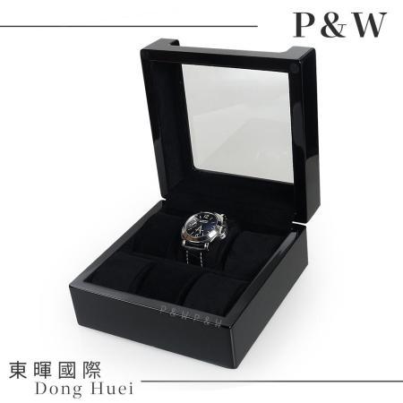 【P&W名錶收藏盒】【木質 鋼琴烤漆】透明上蓋 手工精品 木盒 【6只裝】錶盒