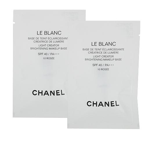 CHANEL 香奈兒 珍珠光感超淨白防曬妝前乳2.5ML x2 色號10 ROSE