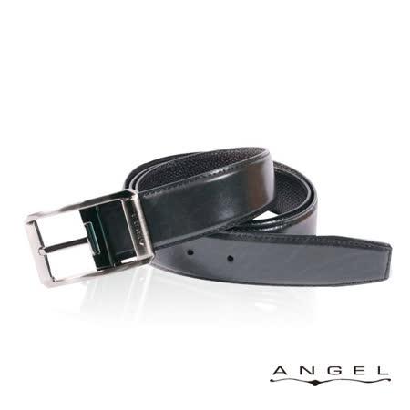 ANGEL精選型男休閒皮帶(黑色雲彩壓紋)B2701-3