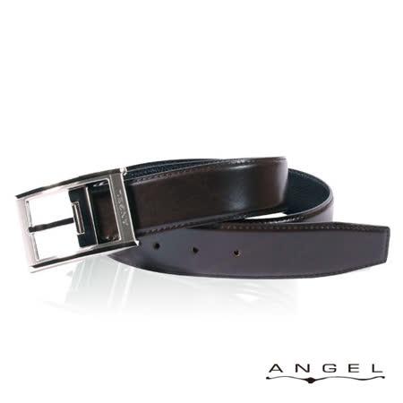 ANGEL精選型男休閒皮帶(經典亮面咖啡)B2702-1