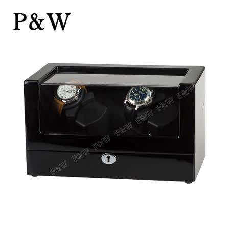 【P&W手錶自動上鍊盒】 【木質鋼琴烤漆】 4支裝 5種轉速 4種模式 機械錶專用 旋轉盒