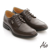 【A.S.O】頂級氣墊系列 全真皮綁帶氣墊紳士鞋(咖啡)