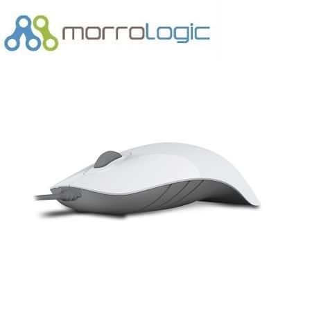 【MorroLogic】 繽紛蘋果鯊USB精密光學有線滑鼠_PLMS_02WCG白灰