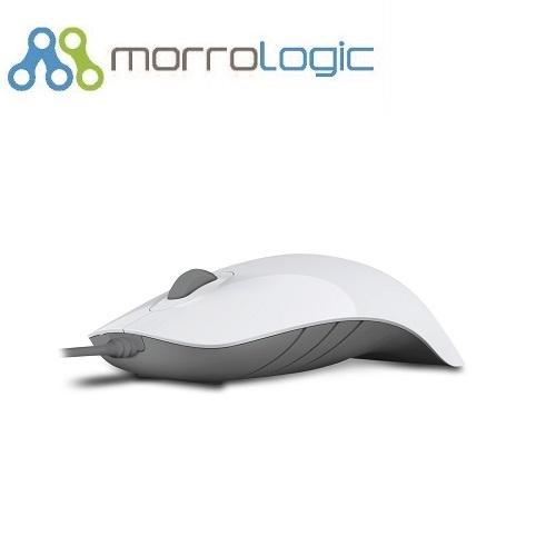 ~MorroLogic~ 繽紛蘋果鯊USB精密光學有線滑鼠_PLMS_02WCG白灰