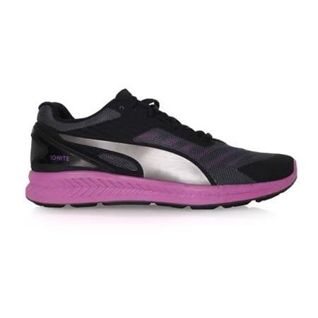 (女) PUMA IGNITE V2 慢跑鞋- 路跑 黑紫