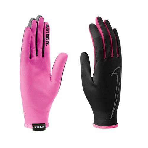 (女) NIKE 用RALLY手套 -吸濕 排汗 單車 自行車 黑粉紅 M