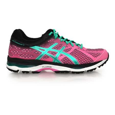 (女) ASICS GEL-CUMULUS 17 慢跑鞋- 路跑 亞瑟士 桃紅湖水綠