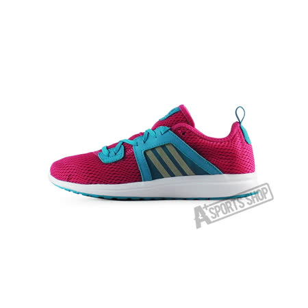 ADIDAS (女) 愛迪達 DURAMA K 慢跑鞋 紅/藍-S75782