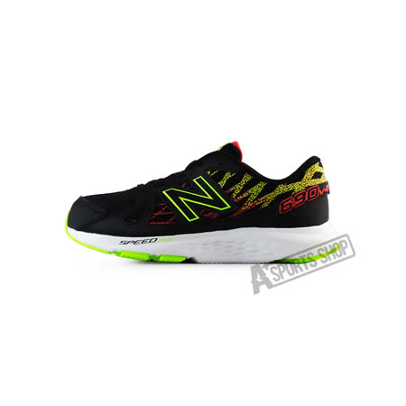 NEW BALANCE (女) 紐巴倫 90輕量跑鞋 運動鞋 黑-KJ690BOY