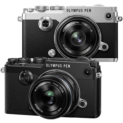 OLYMPUS PEN~F  17mm F1.8 KIT組 復古相機^( 貨^)~送64G