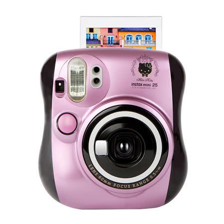 FUJIFILM instax mini25 mini 25 Kitty 限量粉紫 拍立得(公司貨).-送空白底片+水晶殼+迪士尼邊框貼紙(隨機)