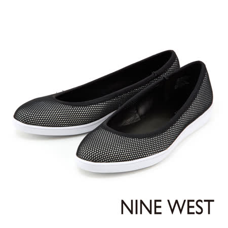 NINE WEST--輕盈平底休閒鞋--黑白配