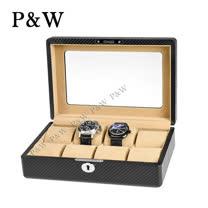【P&W名錶收藏盒】【玻璃鏡面】 碳纖維紋 木質手工精品 【8只裝】錶盒