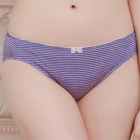 【華歌爾】可愛條紋系列M-L低腰內褲(知性藍)