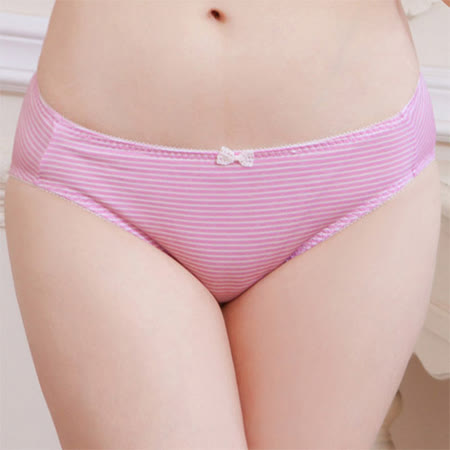 【華歌爾】可愛條紋系列M-L低腰內褲(甜美粉)