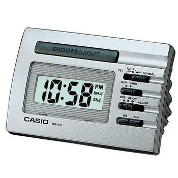 CASIO卡西歐 數字型電子鬧鐘 -銀灰色 DQ-541D-8